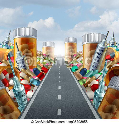 Medizin und Medizin. - csp36798955