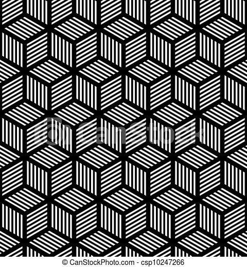 Meereslose geometrische Op-Art-Stimme - csp10247266