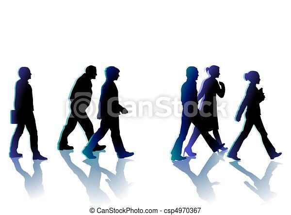 Menschen gehen - csp4970367