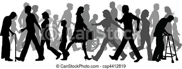 Menschen gehen - csp4412819