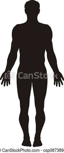 Menschliche Körpersilhouette - csp0873894