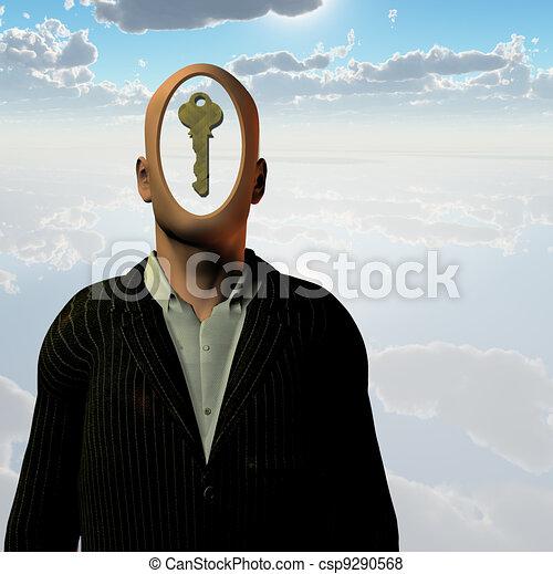 menschliche , schlüssel - csp9290568