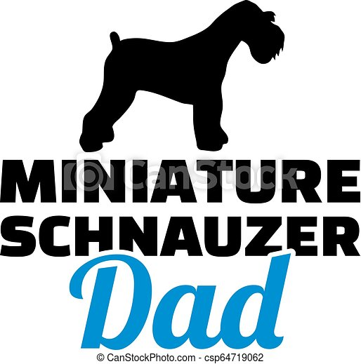 Miniatur-Schnauzer Dad Silhouette. - csp64719062