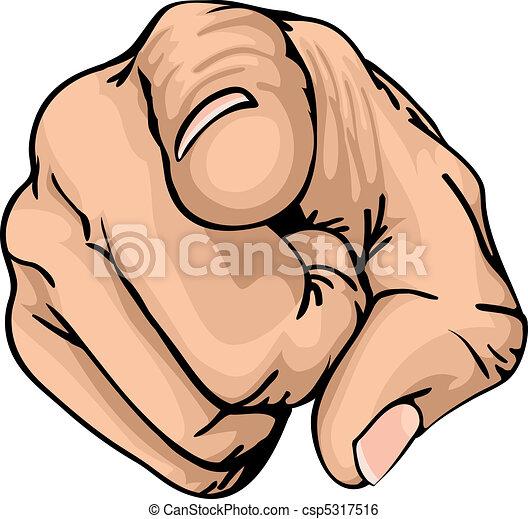 Mit dem Finger - csp5317516