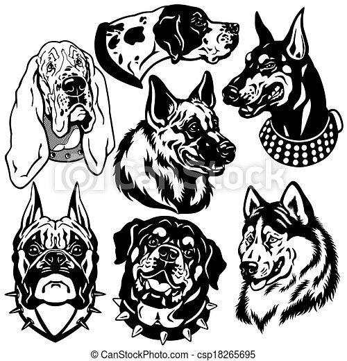 Mit Hundeköpfen Symbole. - csp18265695