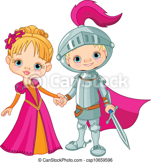 Mittelalterlicher Junge und Mädchen - csp10659596