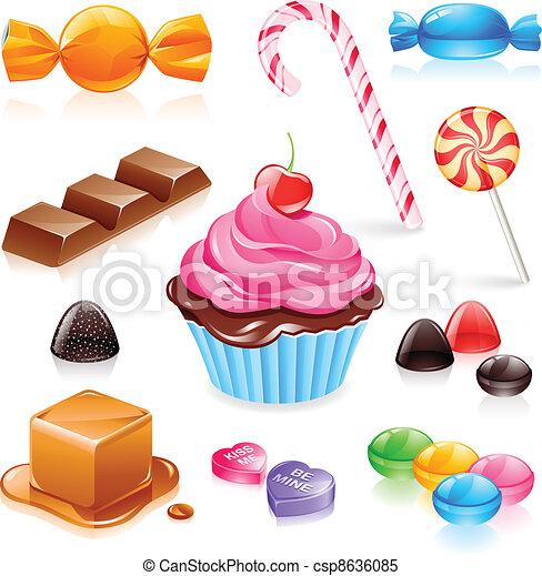 Mixed Candy Vektor - csp8636085