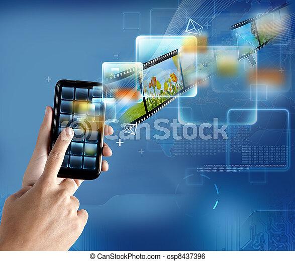 Moderne Technologie Smartphone - csp8437396