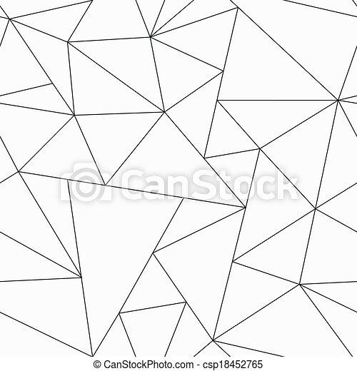 Monochrome Dreiecksmuster. - csp18452765