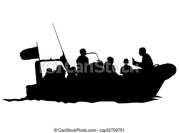 Motorboot. - csp32759751