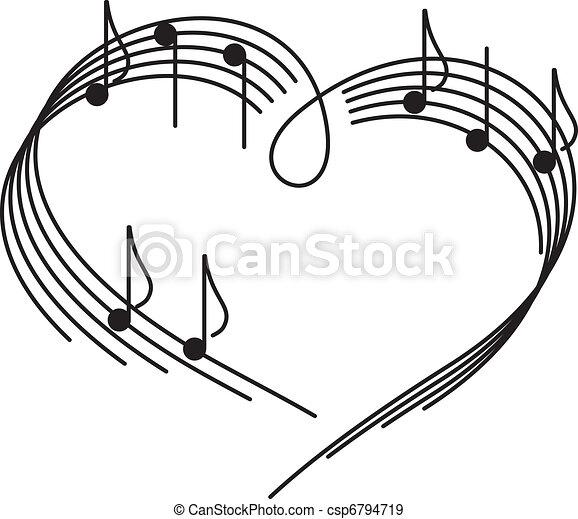 Musik der Liebe. - csp6794719