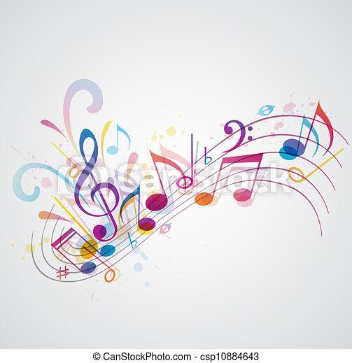 Musik Hintergrund - csp10884643