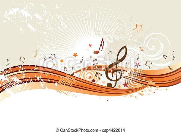 Musik Hintergrund - csp4422014
