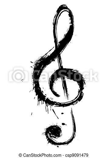 Musiksymbol - csp9091479