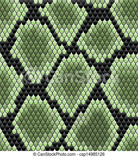 muster, grün, seamless, schlangenhaut - csp14985126