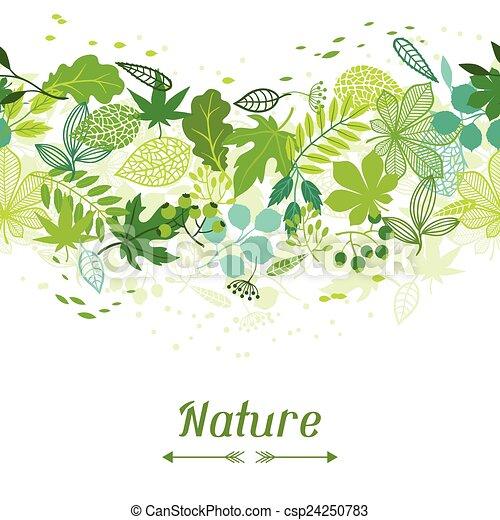 Muster mit stilisierten grünen Blättern. - csp24250783