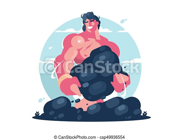 Mythologischer Charakter von Herkules - csp49936554