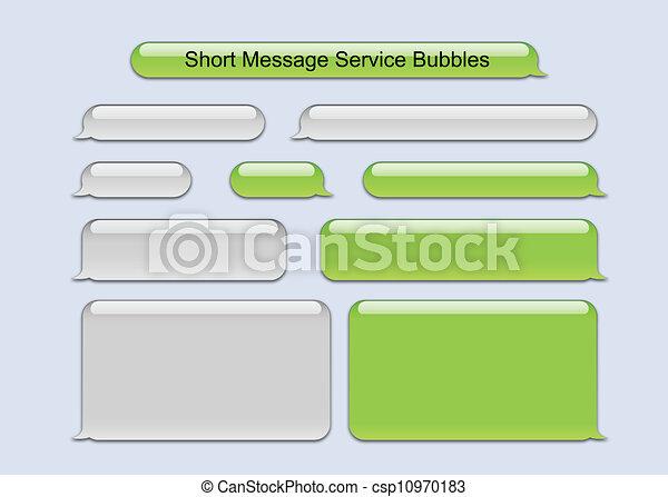 nachricht, kurz, blasen, service - csp10970183