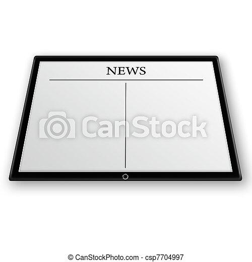 Nachrichten auf Tablet PC - csp7704997