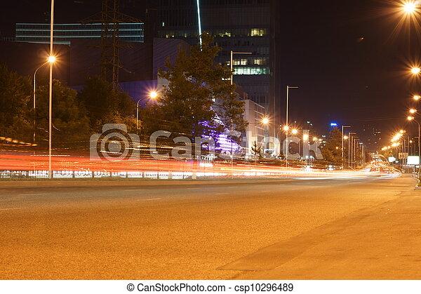 Nachtstraße - csp10296489