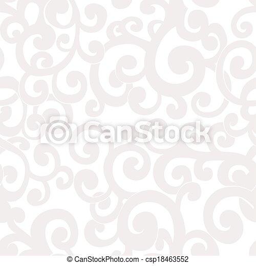 Naheloser abstrakter Hintergrund mit Wirbeln in weißen und Cremefarben. - csp18463552