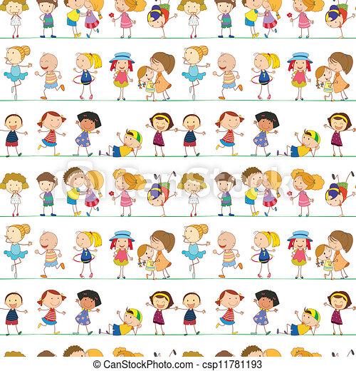 Nahmlose Kinder - csp11781193