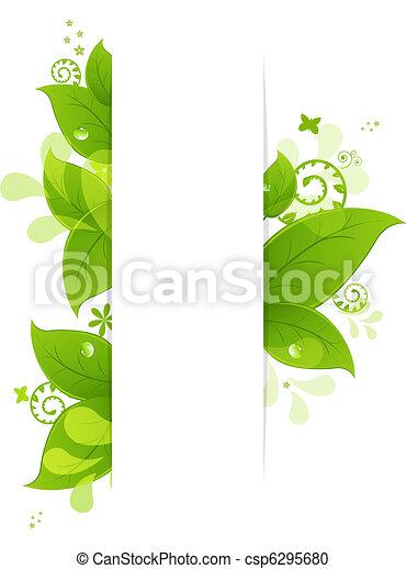 Natürlicher Hintergrund mit Blättern und Tropfen - csp6295680