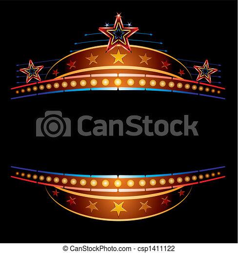 Neon mit Sternen - csp1411122