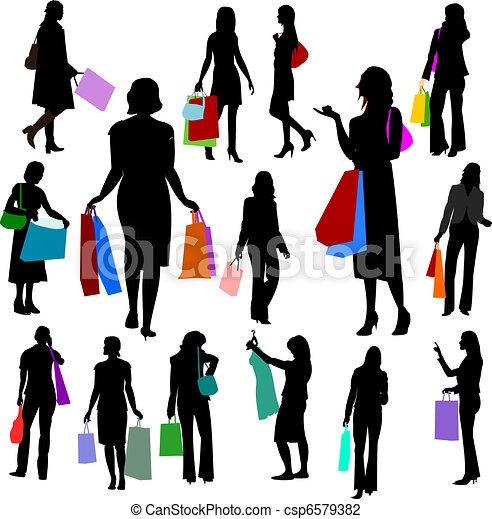 no.2., -, leute, shoppen, frauen - csp6579382