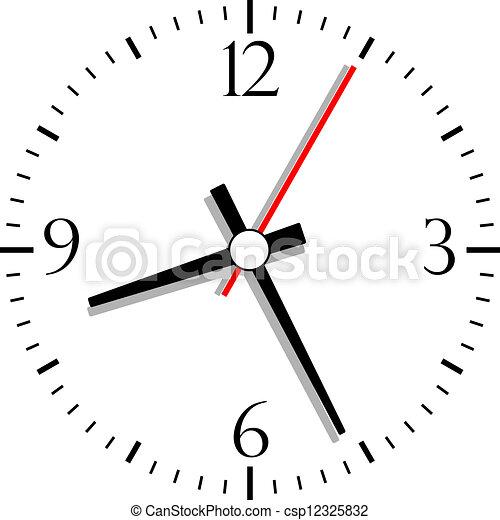 Nummerierte Uhr, Vektor Illustration - csp12325832