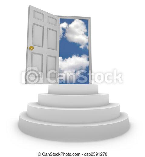 Offene Tür zu neuen Möglichkeiten - csp2591270