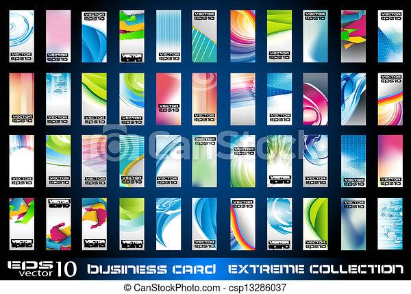 Offenlegung von Geschäftskarten im Hintergrund - csp13286037