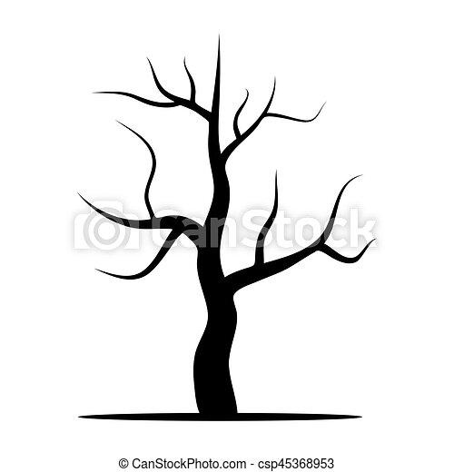 baum ohne blätter. vector illustration isoliert auf weißem