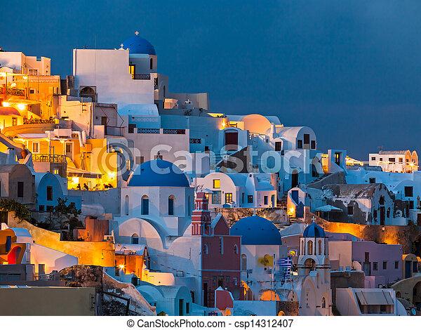 Oia Santorini greece - csp14312407