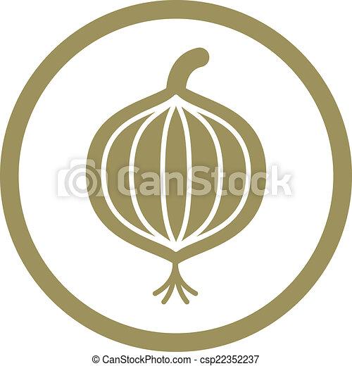 Onion Vektor Icon. - csp22352237