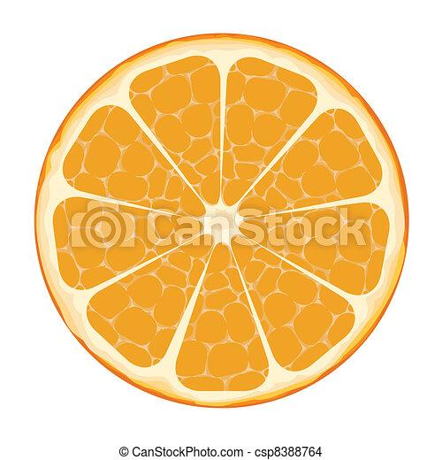 Orangenscheibenvektorkunst - csp8388764