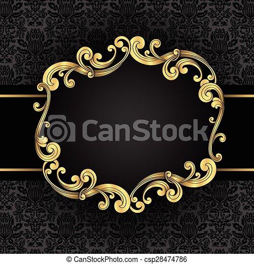 Ornate Goldrahmen - csp28474786