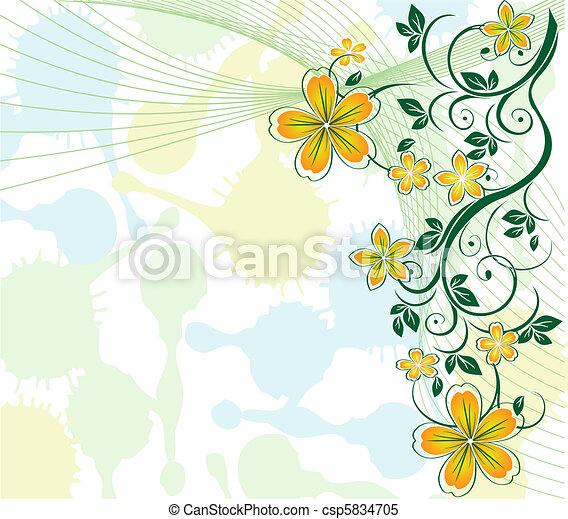 Pastelforal Hintergrund - csp5834705