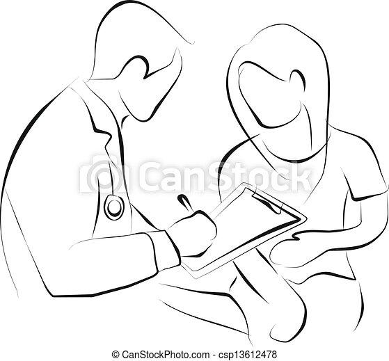 Doktor und Patient - csp13612478