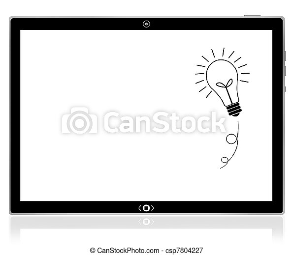 pc computer, idee, tablette, zwiebel - csp7804227