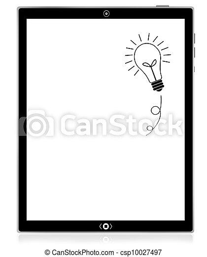pc computer, idee, tablette, zwiebel - csp10027497