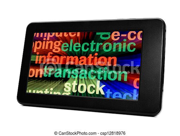 pc, tablette - csp12818976