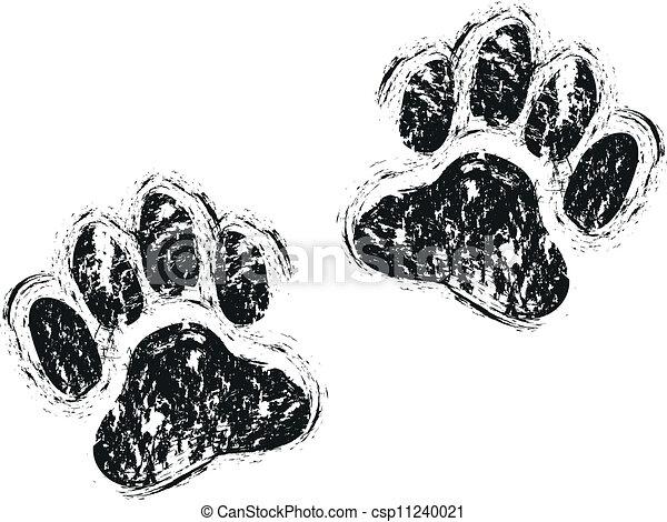 pfoten, hund - csp11240021