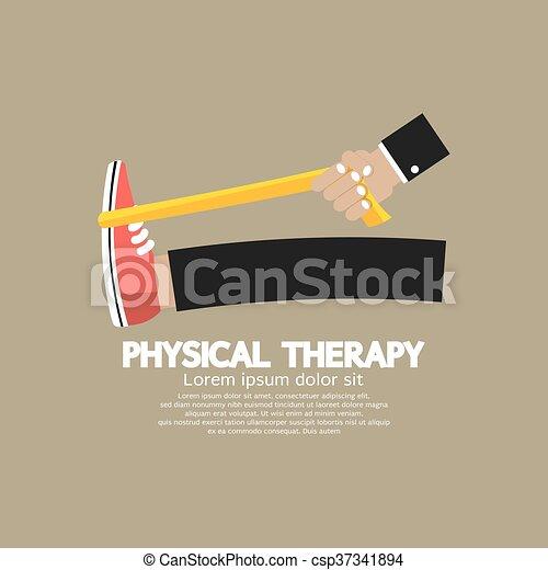 Physische Therapievektor. - csp37341894