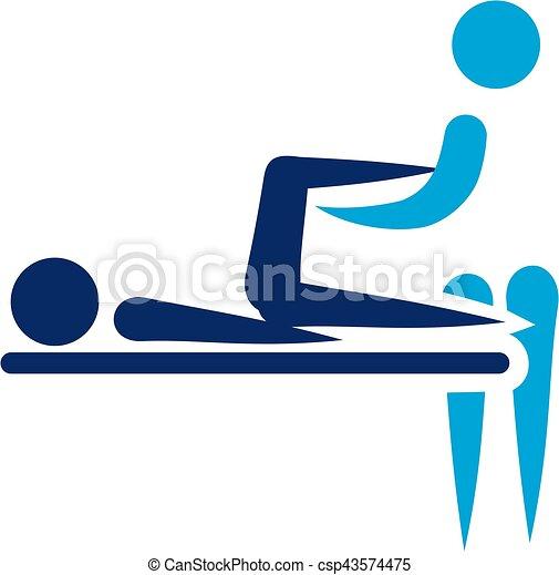 Physische Therapie - abstrakte Ikone. - csp43574475