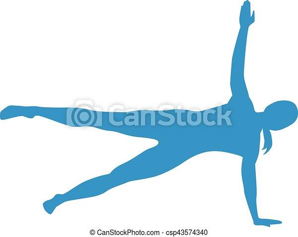 Pilates Silhouetten. - csp43574340