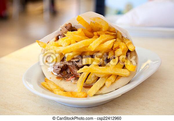 Pita gyro Sandwich. - csp22412960