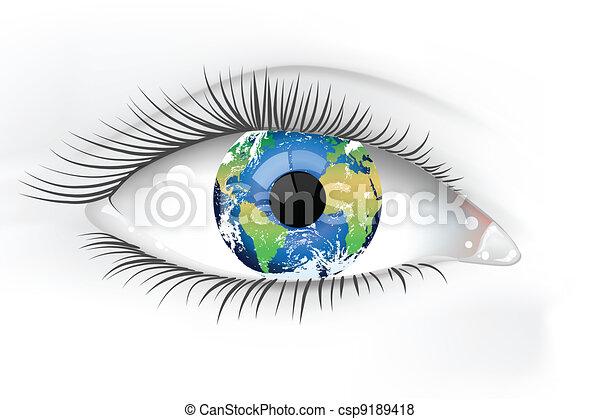 Planet Erde-Auge enteignet - csp9189418