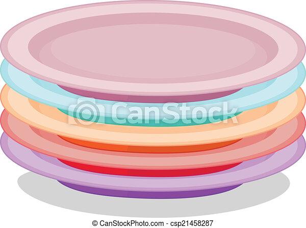 platten, stapel - csp21458287