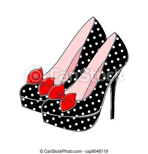 Polka macht High Heels - csp9048119